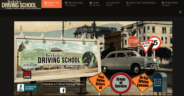 Berkeley Driving School | Portfolio | Graphmug Design Studio